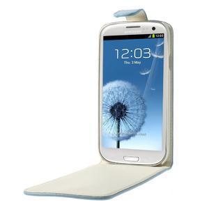 Flipové pozdropre Samsung Galaxy S3I i9300 - světle-modré - 5