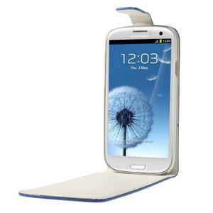 Flipové pozdropre Samsung Galaxy S3 i9300 - modré - 5