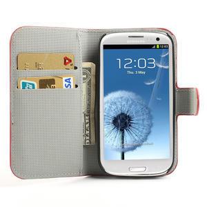 Peňaženkové puzdro pre Samsung Galaxy S3 i9300- USA vlajka - 5