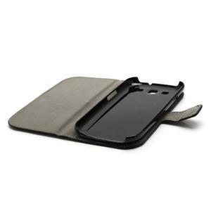 Peňaženkové puzdro pre Samsung Galaxy S3 i9300- čierné - 5