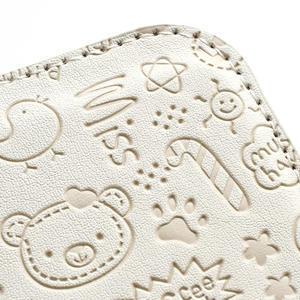 Peňaženkové puzdro na Samsung Galaxy S3 i9300- biele - 5