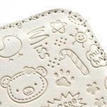 Peňaženkové puzdro na Samsung Galaxy S3 i9300- biele - 5/6