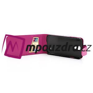 Flipové pouzdro pro Samsung Galaxy S4 i9500- růžové - 5