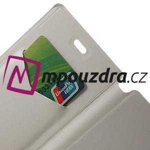Peňaženkové puzdro na Xiaomi Mi3- biele - 5