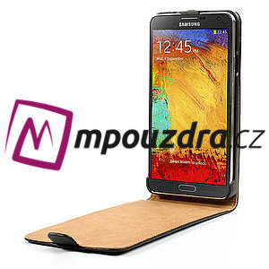 Flipové kožené puzdro pre Samsung Galaxy Note 3- čierné - 5