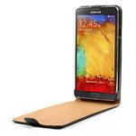 Flipové kožené puzdro na Samsung Galaxy Note 3- čierné - 5/7