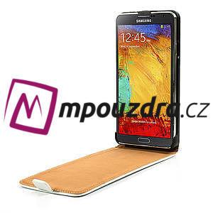 Flipové kožené puzdro na Samsung Galaxy Note 3- biele - 5