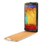Flipové kožené puzdro na Samsung Galaxy Note 3- biele - 5/6