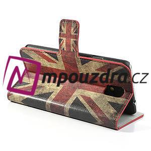 Peňaženkové  puzdro na Samsung  Galaxy Note 3- UK vlajka - 5