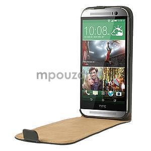 Flipové puzdro pre HTC one M8- čierné - 5