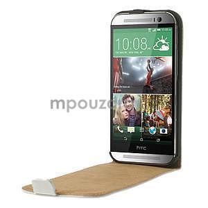 Flipové puzdro pre HTC one M8- biele - 5