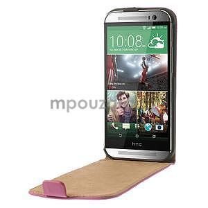 Flipové puzdro pre HTC one M8-růžové - 5