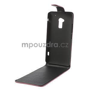 Flipové puzdro HTC one Max- růžové - 5