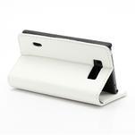 Peňaženkové puzdro na LG Optimus L7 P700 - biele - 5/7