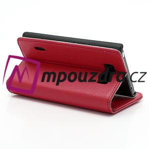 Peňaženkové puzdro na LG Optimus L7 P700 - červené - 5