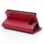 Peňaženkové puzdro na LG Optimus L7 P700 - červené - 5/7