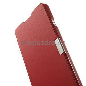 Flipové puzdro pre LG Optimus L9 P760- červené - 5