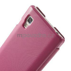 Flipové puzdro pre LG Optimus L9 P760- růžové - 5