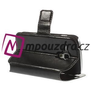 Peňaženkové puzdro na Samsung Trend plus, S duos - čierné - 5