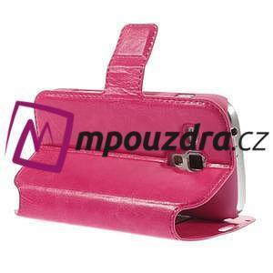 Peňaženkové puzdro na Samsung Trend plus, S duos - růžové - 5