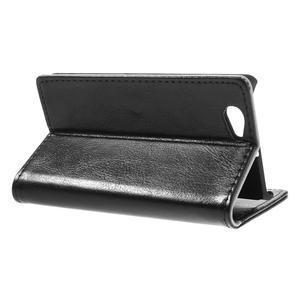 Peňaženkové puzdro na Sony Xperia Z1 Compact D5503- čierné - 5