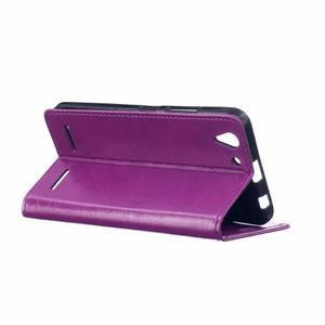Knížkové PU kožené puzdro pre Lenovo Vibe K5 / K5 Plus - fialové - 5