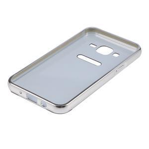 Odolný obal s kovovým obvodem na Samsung Galaxy J5 (2016) - stříbrný - 5