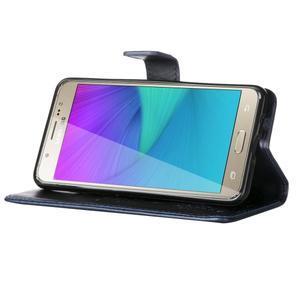 Magicfly PU kožené puzdro na Samsung Galaxy J5 (2016) - tmavomodré - 5