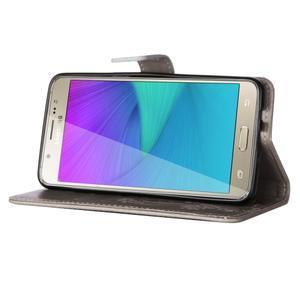 Magicfly PU kožené pouzdro na Samsung Galaxy J5 (2016) - šedé - 5