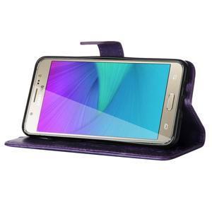 Magicfly PU kožené puzdro na Samsung Galaxy J5 (2016) - fialové - 5
