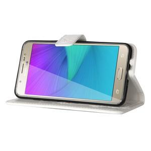 Magicfly PU kožené puzdro na Samsung Galaxy J5 (2016) - biele - 5