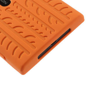 Silikonové PNEU puzdro na Nokia Lumia 920- oranžové - 5