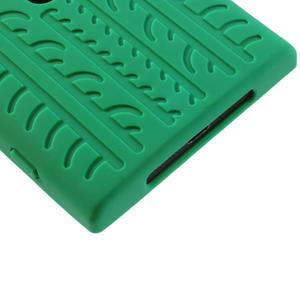 Silokonové PNEU puzdro na Nokia Lumia 920- zelené - 5