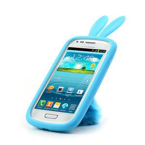 Silikonový králík pro Samsung Galaxy S3 mini i8190- modrý - 5