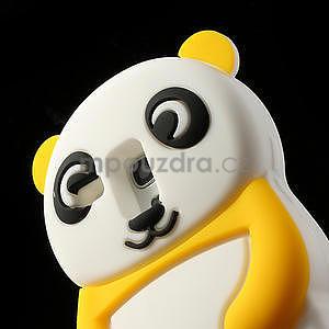 3D Silikonové puzdro pre Samsung Galaxy S3 mini / i8190 - vzor žltá panda - 5