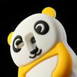3D Silikonové puzdro pre Samsung Galaxy S3 mini / i8190 - vzor žltá panda - 5/7