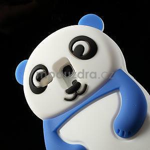 3D Silikonové puzdro pre Samsung Galaxy S3 mini / i8190 - vzor modrá panda - 5