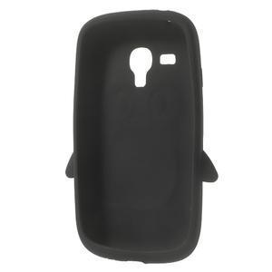 Silikonový tučniak puzdro pre Samsung Galaxy S3 mini i8190- čierny - 5