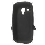 Silikonový tučniak puzdro pre Samsung Galaxy S3 mini i8190- čierny - 5/7