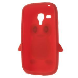 Silikonový TUČŃÁK puzdro na Samsung Galaxy S3 mini i8190- červený - 5
