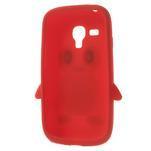 Silikonový TUČŃÁK puzdro na Samsung Galaxy S3 mini i8190- červený - 5/7