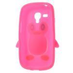Silikonový tučniak puzdro pre Samsung Galaxy S3 mini i8190- ružový - 5/7