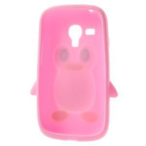 Silikonový tučniak puzdro pre Samsung Galaxy S3 mini i8190- svetloružový - 5