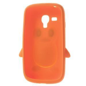 Silikonový TUČŃÁK puzdro na Samsung Galaxy S3 mini i8190- oranžový - 5