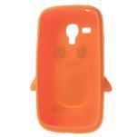 Silikonový TUČŃÁK puzdro na Samsung Galaxy S3 mini i8190- oranžový - 5/7