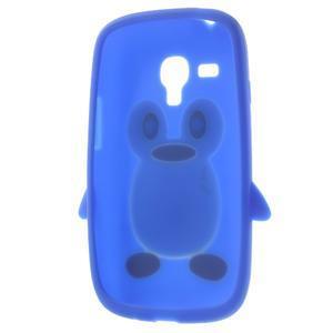 Silikonový tučniak puzdro pre Samsung Galaxy S3 mini i8190- modrý - 5