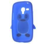 Silikonový tučniak puzdro pre Samsung Galaxy S3 mini i8190- modrý - 5/7