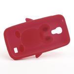Silikon 3D TUČŇÁK pro Samsung Galaxy S4 mini i9190- červený - 5/5