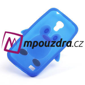 Silikon 3D TUČŇÁK pro Samsung Galaxy S4 mini i9190- modrý - 5