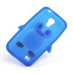 Silikon 3D TUČŇÁK pro Samsung Galaxy S4 mini i9190- modrý - 5/5